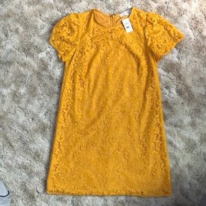 Yellow Lace A Line Dress